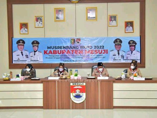 Kabupaten Mesuji Gelar Musrenbang RKPD 2022, Aparatur Kecamatan dan Desa Mengikuti Secara Virtual