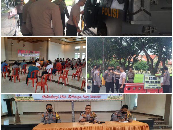 Antisipasi Pasca Bom Makasar, Polres Lampung Tengah Perketat Penjagaan Mako.
