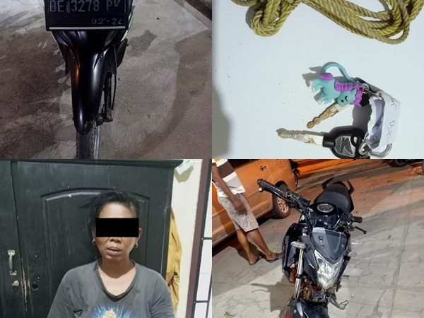 Diduga Mencuri Motor, Seorang Wanita diamankan Polisi