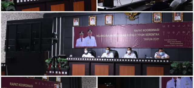 Jelang Pelaksanaan Pemilihan Kepala Tiyuh Serentak 2021, Sekda Novriwan Jaya Gelar Rapat Koordinasi Secara Virtual