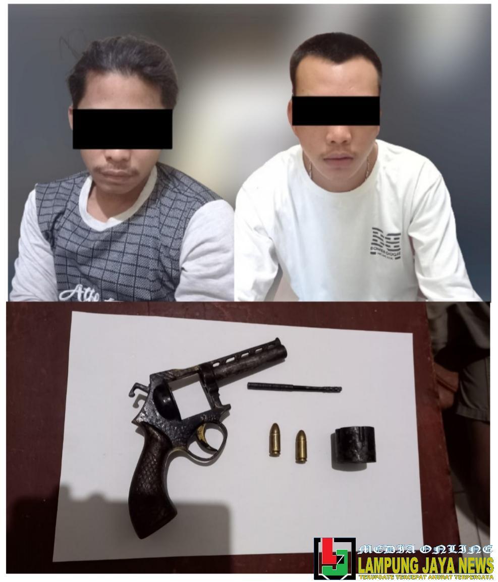 Kedapatan Membawa Senpi Saat Patroli Malam, Dua Pemuda diamankan Polisi